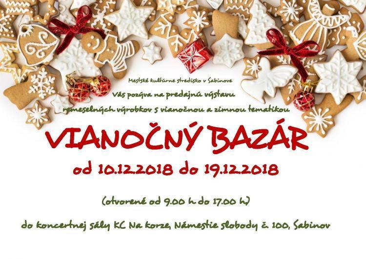 Mestské kultúrne stredisko Sabinov - Podujatie - VIANOČNÝ BAZÁR 205ce0d795d